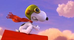 Snoopy em sua eterna rivalidade com o Barão Vermelho (Crédito: Fox Filmes)