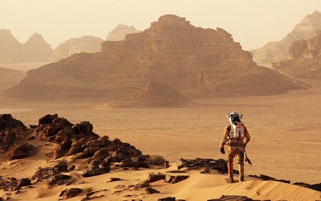 As imaginadas paisagens de Marte pela lente de Ridley Scott (Crédito: 20th Century Fox/ Divulgação)