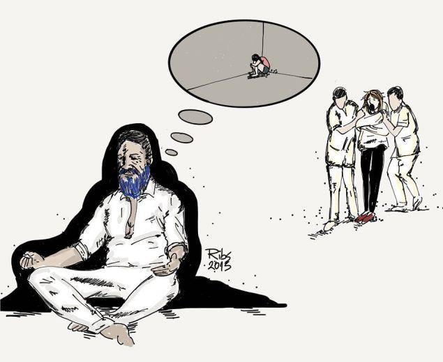 O cartunista Ribs retratou o caso Láercio: Quanto mais mulheres tratadas como loucas, mais mulheres abusadas.