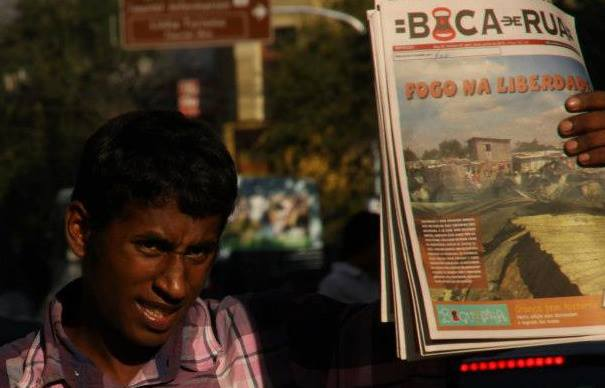 o Jornal de Boca é produzido por pessoas em situação de rua (Foto: divulgação)