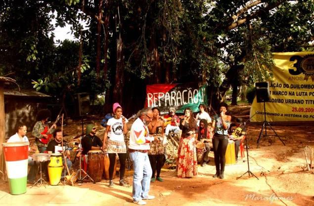 Apresentação da Kalunga Quilombola no Quilombo dos Silva (Foto: divulgação)