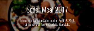 Seder Meal Easter 2017