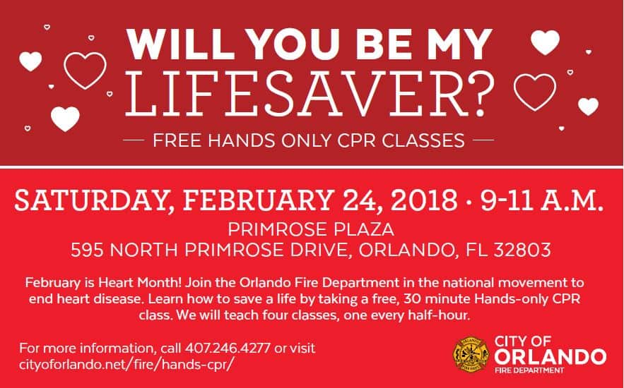 Be A Lifesaver Take A Free Hands Only Cpr Class Nonahood News