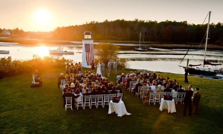 Photo of One of our Ceremonies. Maine Wedding Venues at Their Finest!