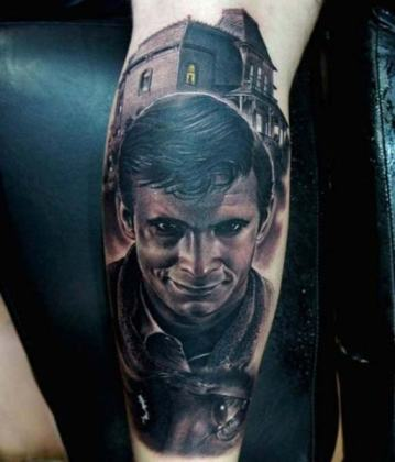 Norman Bates tattoo