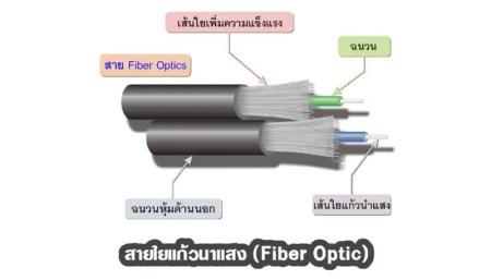สายใยแก้วนาแสง (Fiber Optic)