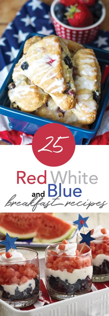 Red, White and Blue Breakfast Recipes | NoNightlights.com