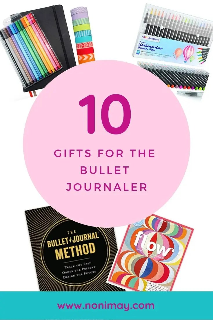 Bullet journal gift guide for creatives and journaling gifts