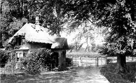 The Holt Street gate lodge viewed from the coach road in Fredville Park in1905