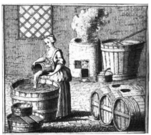 Small scale brewing was often carried out on the premises by women