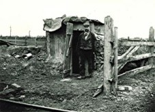 A navy hut, built from whatever came to hand. Employers had no legal responsibility to provide accomadation until the end of the 19th centuryaccomodation