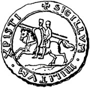 The original Templar seal emphasised their poverty with the two knights sharing one horse