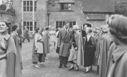 The Duke of Kent in the court-yard of the old house, June, 1939