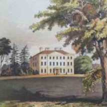 Goodnestone Park, the home of Sir Brook Bridges, Bart. Circa 1800.