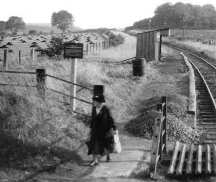 Knolton Halt just before closure, looking towards Shepherdswell,the station master house is of to the left