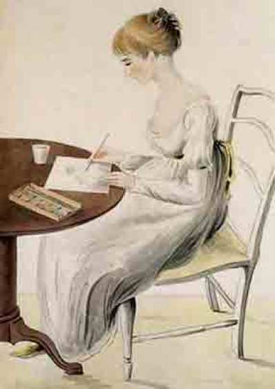 Fanny Knight, a water-colour by Cassandra Austen, Jane's sister