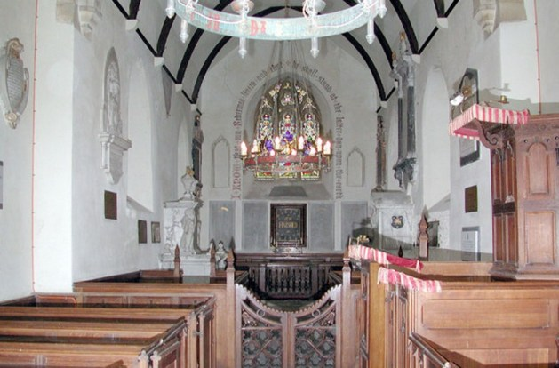 The interior of St. Clement's Church, Knowlton.