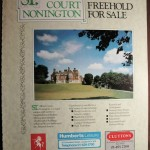 A 1985 Country Life advert for the sale of the college estate.