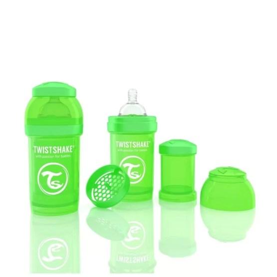 Biberon Twistshake Anti – Colici 180 ml Verde