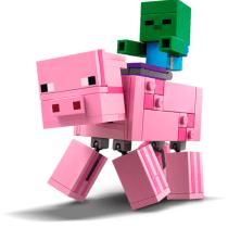 LEGO-Porc-BigFig-cu-Bebelus-de-zombi