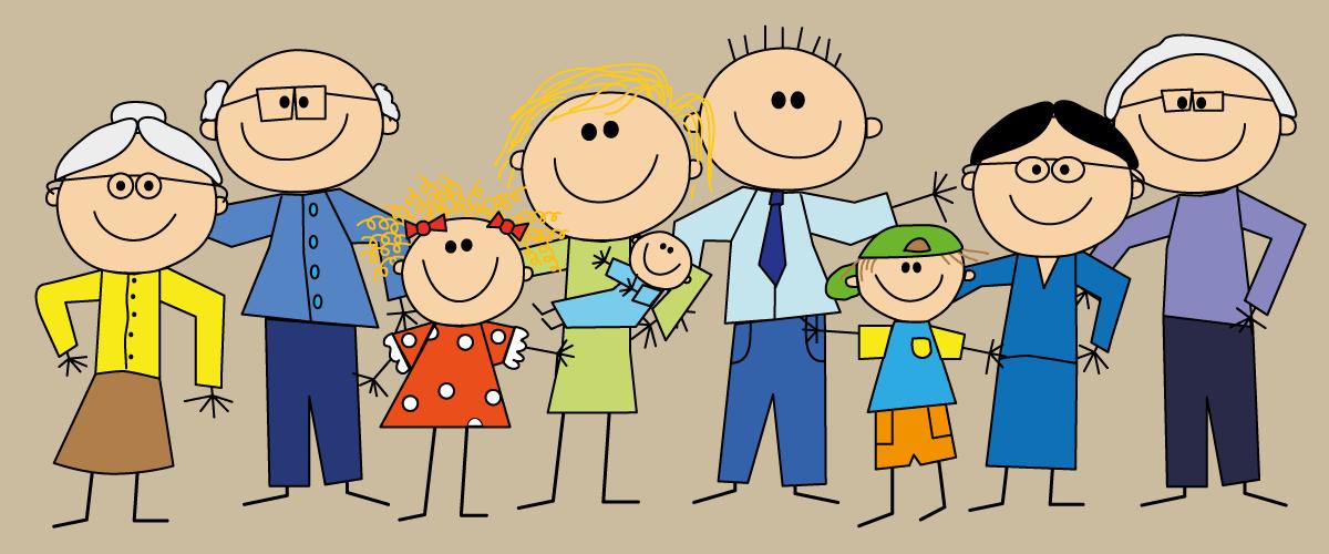Famiglia Nonni Genitori Nipoti Nonni