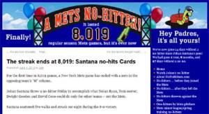 Mets' NoNoHitters.com site