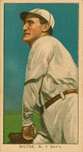 Hooks Wiltse baseball card.