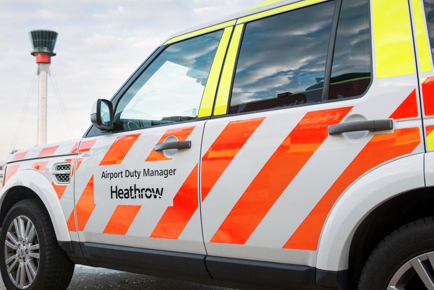 Heathrow's vehicle livery