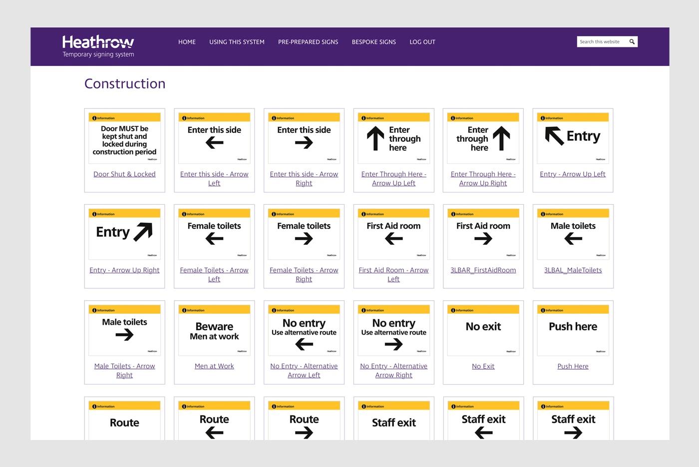 Heathrow Websites