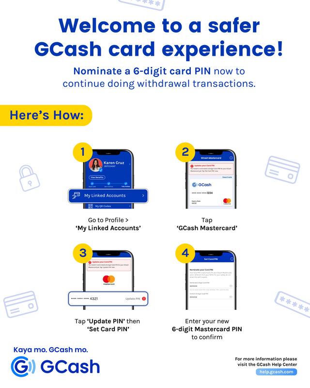 Update GCash card PIN