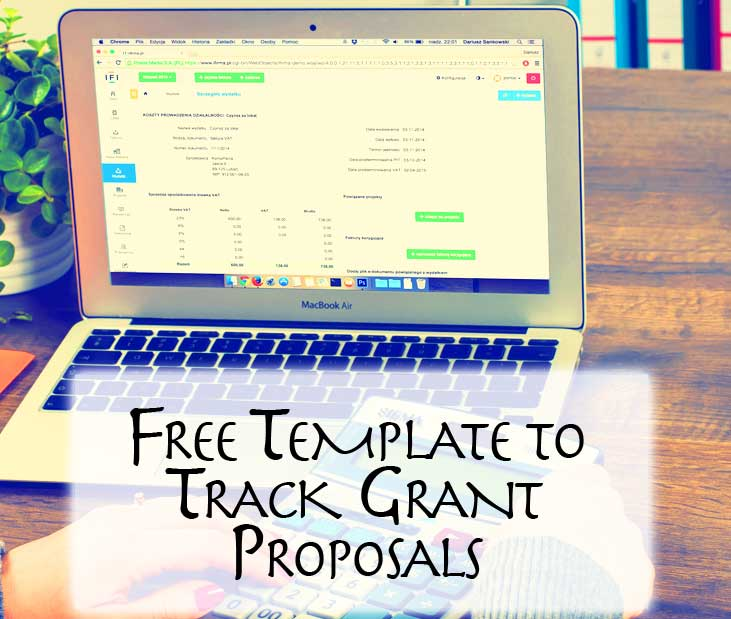 free template to track grant proposals nonprofit success