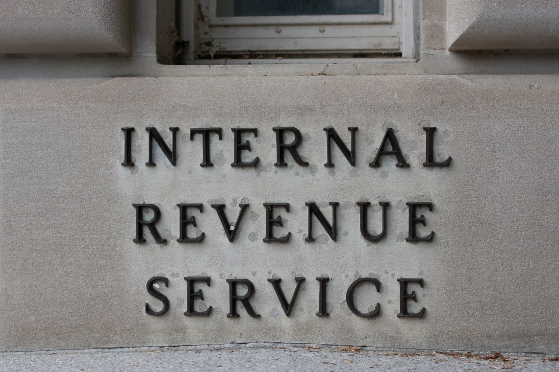 IRS Headquarters Sign in Washington, D.C.