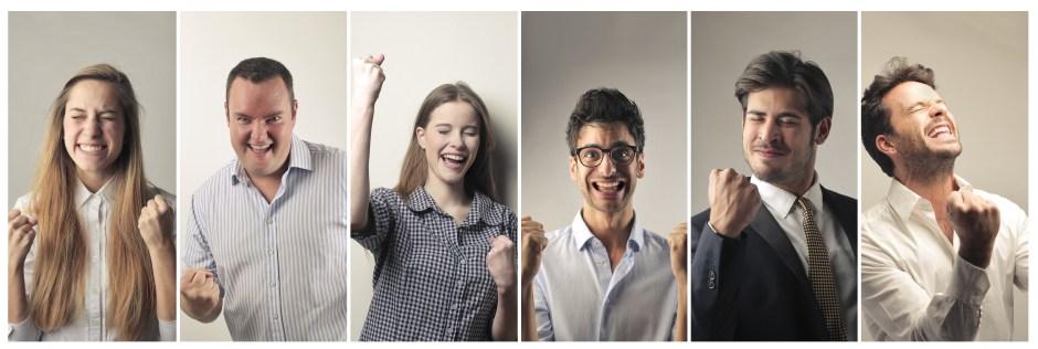 Jubilant people