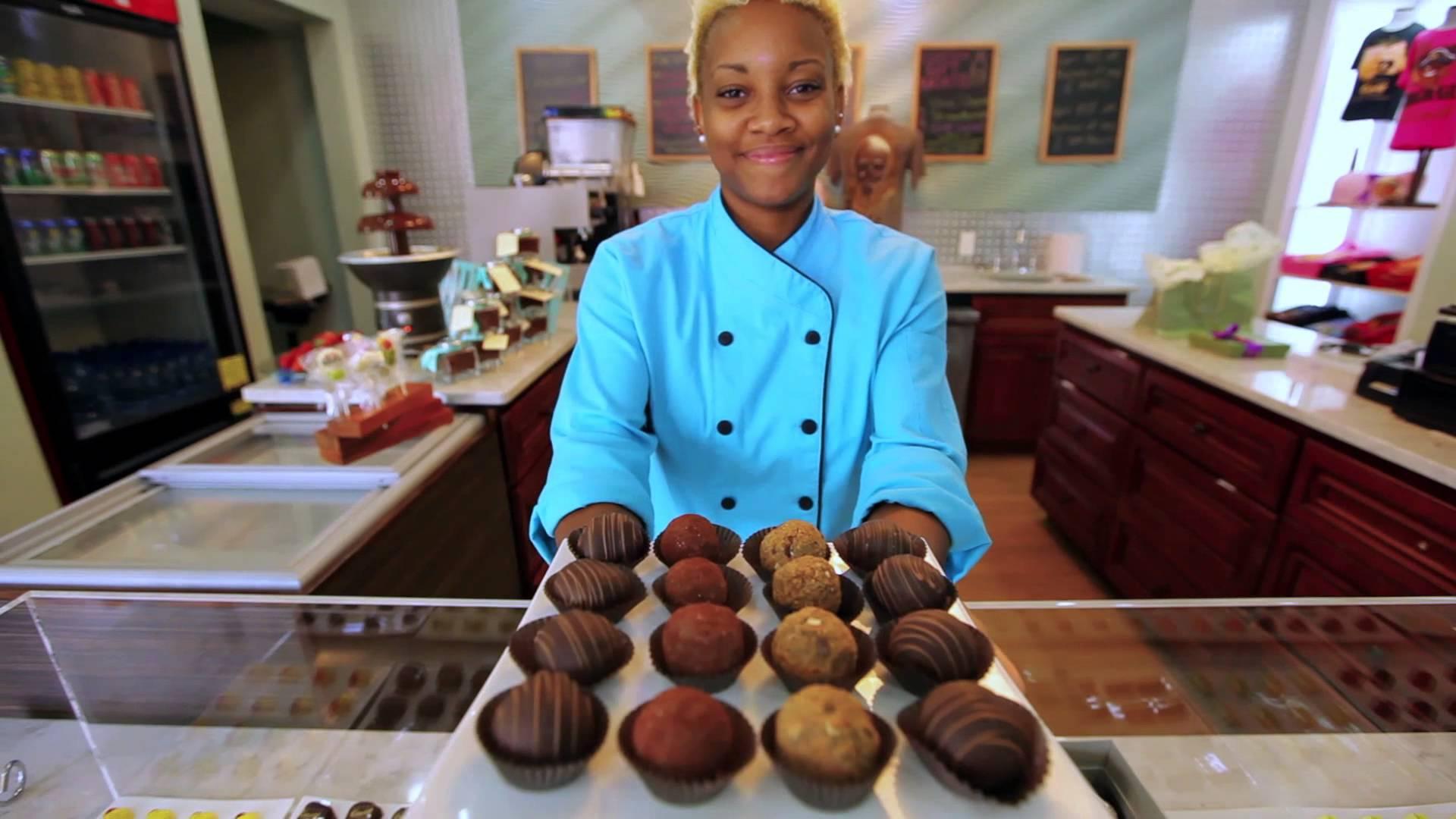 Enjoying Chocolates in Nassau