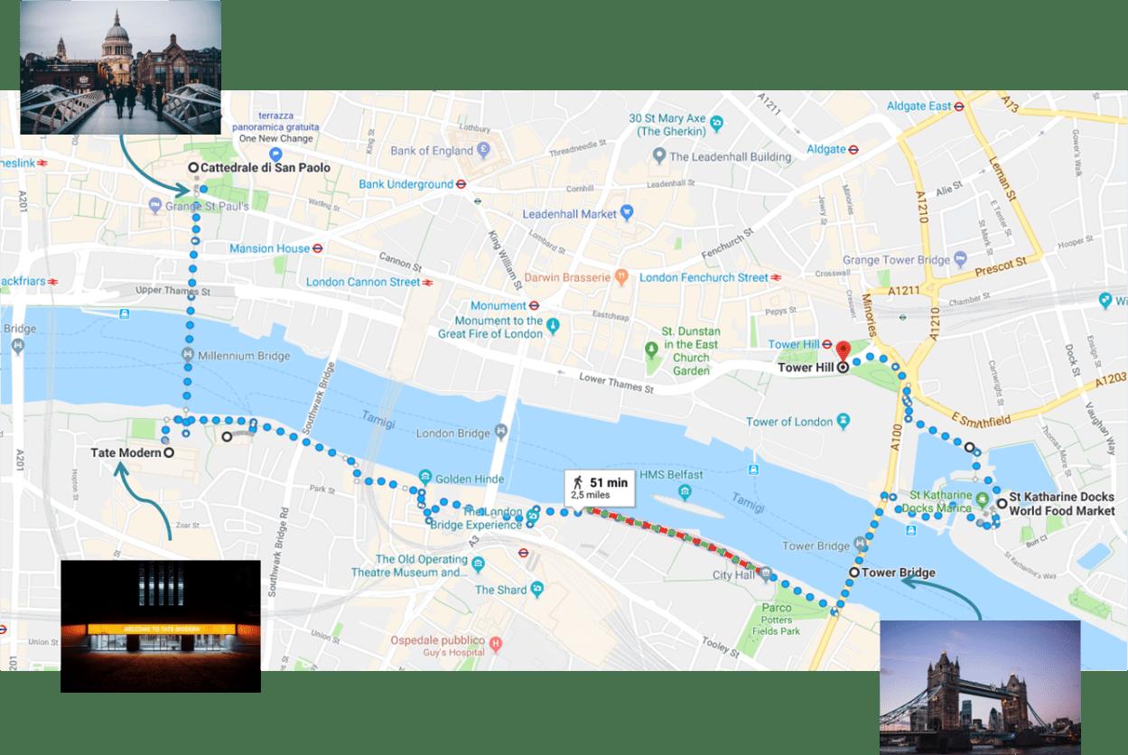 Londra, itinerario