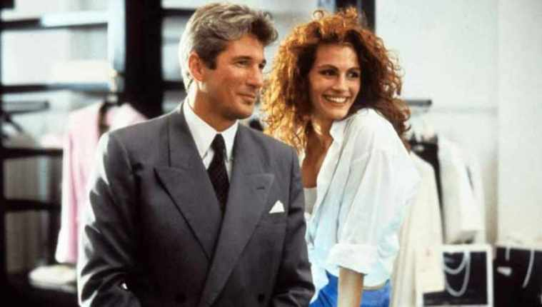 Una scena di Pretty Woman che ha come protagonisti Richard Gere e Julia Roberts - Frasi sul sesso nei film