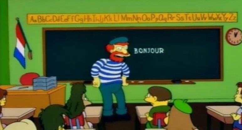 L'episodio musica maestro dei Simpson nella versione francese è diverso in una scena