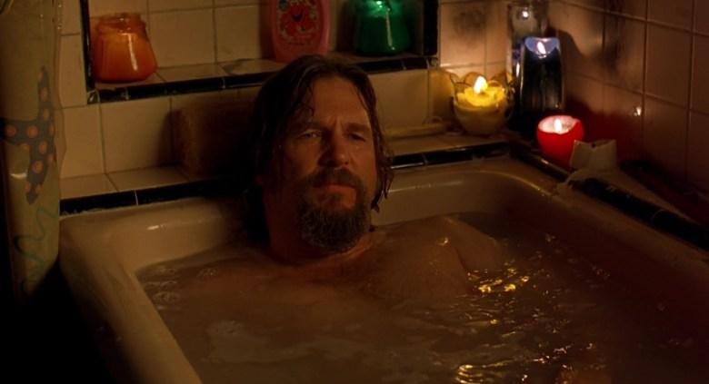 Il grande Lebowski citazioni e dialoghi di Joel Coen con Jeff Bridges, John Goodman, Julianne Moore, Steve Buscemi, Drugo nella vasca