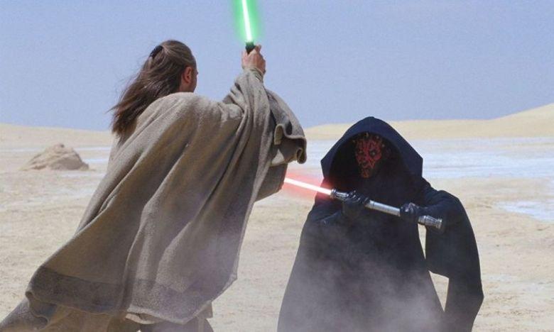 Star Wars Episodio I - La minaccia fantasma citazioni e dialoghi di George Lucas con Liam Neeson, Ewan McGregor, Natalie Portman, Jake Lloyd, Qui-Gon e Darth Maul