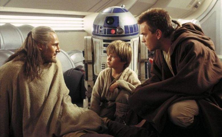 Star Wars Episodio I - La minaccia fantasma citazioni e dialoghi di George Lucas con Liam Neeson, Ewan McGregor, Natalie Portman, Jake Lloyd, Obi Wan, Qui Gon e Anakin