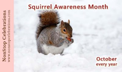 Squirrel Awareness Month happens every October