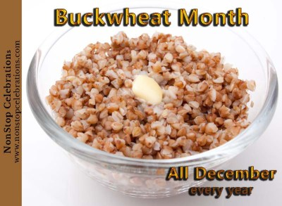 December is Buckwheat Month