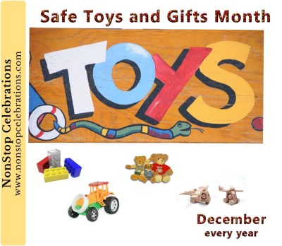 December is Safe Toys and Gifts Awareness Month