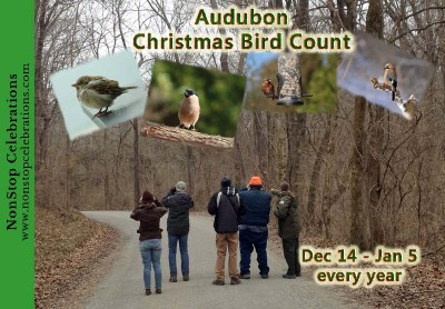 The Audubon Christmas Bird Count runs from December 14 to January 5 every year