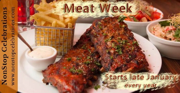 Meat Week begins the last Sunday in January