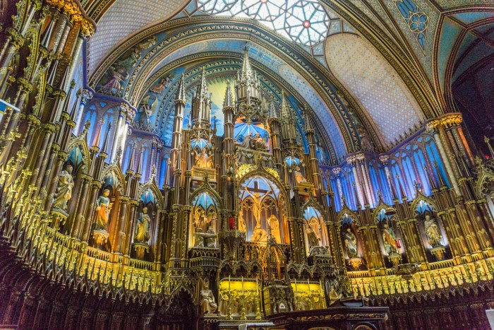 The amazing Notre-Dame Basilica in Montreal. From http://www.nonstopfromjfk.com