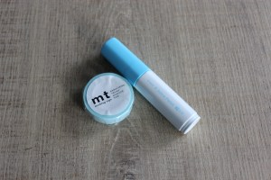 Pilot Juice Paint in blue - MT masking tape kamoi paper washi adhesive tape
