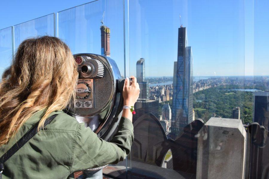 new york city skyline top of the rock observatory rockefeller center