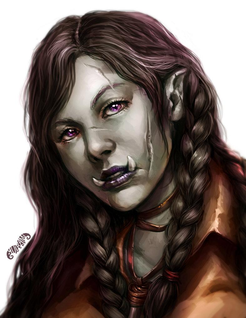 Creative D&D Characters: Neutral Good Half-Orc Warlock - NZS