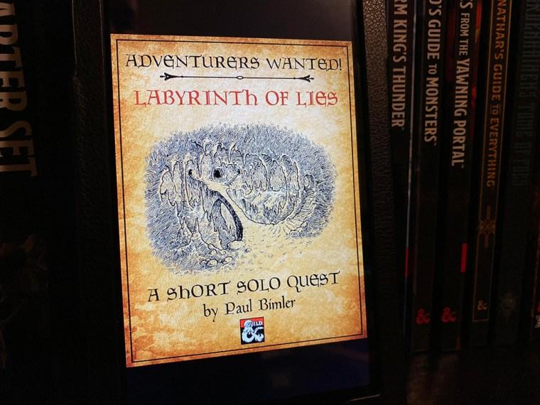 D&D Solo Adventure Labyrinth of Lies